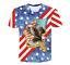 Women//men American Flag Eagle 3D print Short Sleeve Casual T-Shirts S-5XL WU01