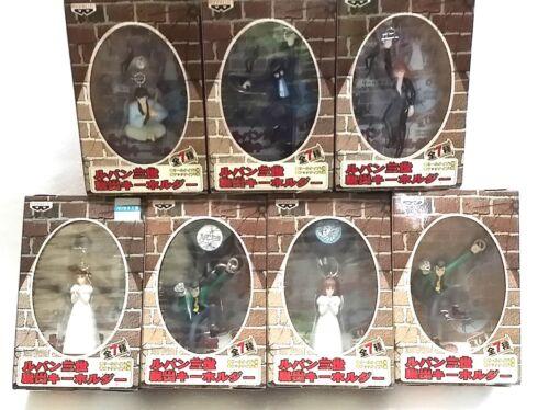 GOEMON Rare Japan BANPRESTO SET of 7  LUPIN JIGEN figure FUJIKO