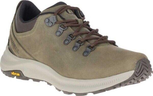 Nuevo Para Hombre Merrell Ontario Luz excursionista Cuero de grano lleno verde Oliva Senderismo Zapatos