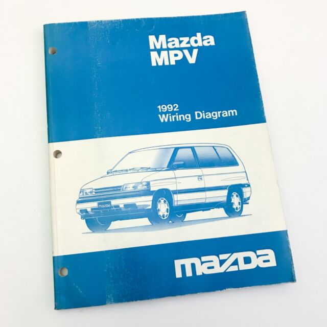 1992 Mazda Mpv Minivan Factory Oem Wiring Diagram Service