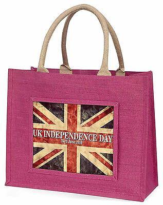 Brexit,Britische Flagge Independence Tag 2016 Große Rosa Einkaufstasche,