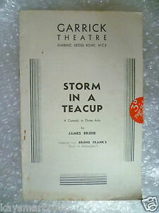 Theatre Programme STORM IN A TEA CUP from Bruno Frank039s Stiirm im Was  J Bridie - <span itemprop=availableAtOrFrom>ilford, Essex, United Kingdom</span> - Returns accepted Most purchases from business sellers are protected by the Consumer Contract Regulations 2013 which give you the right to cancel the purchase within 14 days after th - ilford, Essex, United Kingdom