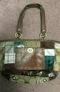 Coach-Limited-Edition-Patchwork-Tote-Purse-11358-Leather-Handbag