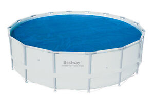 Bestway 16 Foot Round Above Ground Swimming Pool Solar