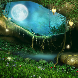Image Is Loading Wall Mural  Fairy Forest Fantasy Children Repositionable Vinyl  Part 79