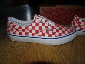26422f0ceb98a Vans Era Pro Checkerboard Old Skool Skate Rococco Red/WhiteTrainers ...