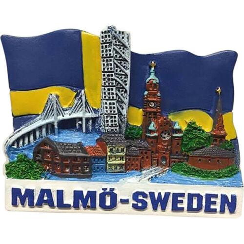 Malmö en Suède Sweden Poly magnétique Turning torso Oresund Pont souvenir