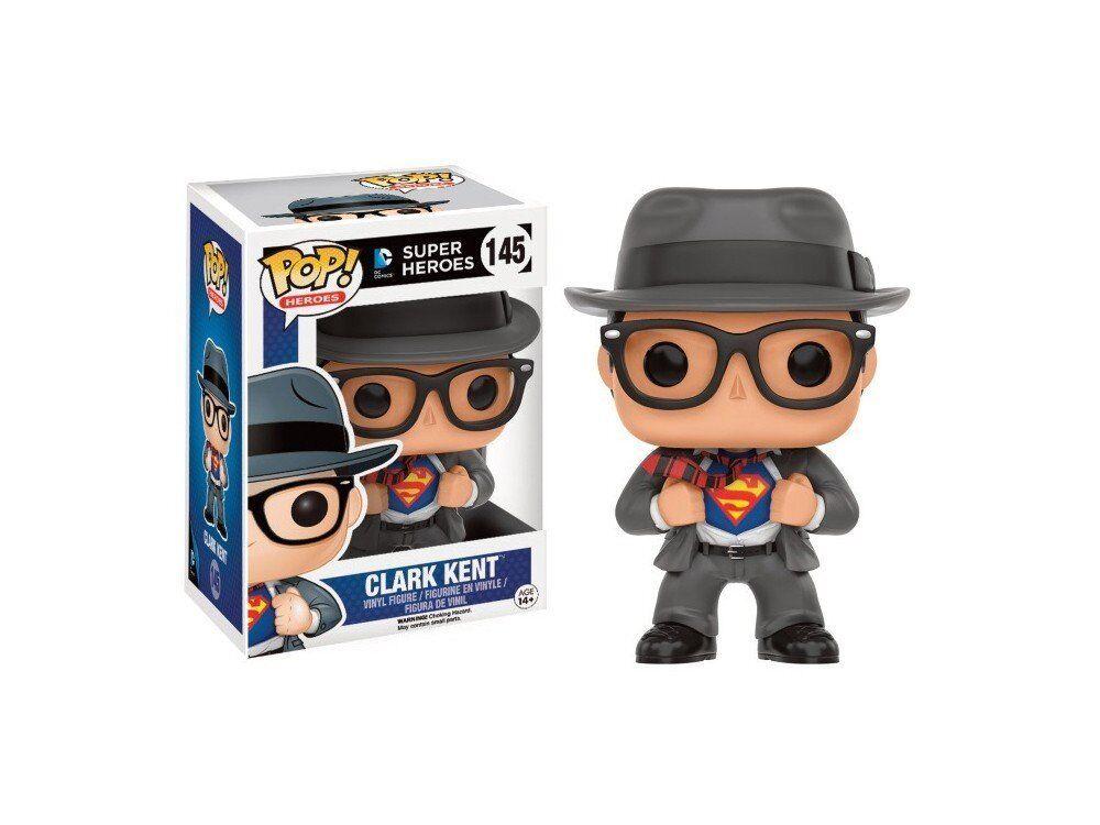 Pop  Dc Heroes Clark Kent Exclusive  145 Vinyl Figure by Funko JC