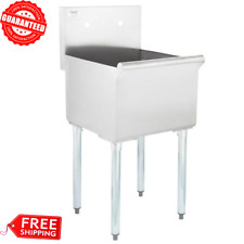 Commercial Utility Wash Sink 16 Gauge Stainless Steel 1 Compartment 18x18x13