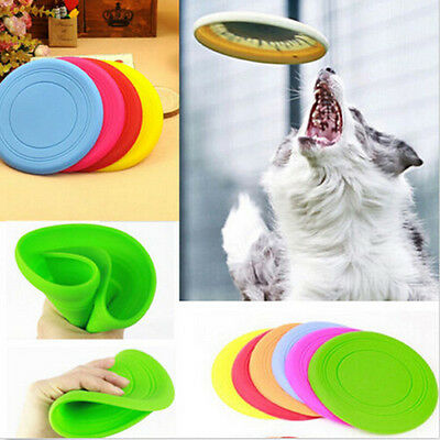 New Hot  Pet Dog Flying Disc Tooth Resistant Training Toy Play Frisbee Tide
