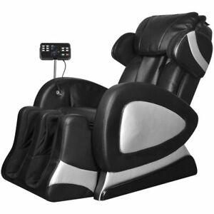 Poltrona Massaggiante.Dettagli Su Vidaxl Poltrona Massaggiante Schermo Comandi Similpelle Nera Sedia Massaggio