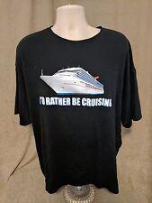 I'd Rather Be Cruising Carnival black t-shirt mens XXXL 3XL ships cruise