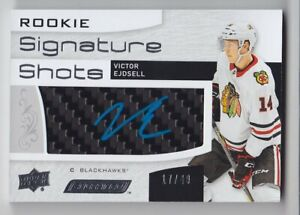 2018-19-UD-ENGRAINED-VICTOR-EJDSELL-RC-AUTO-BLUE-49-ROOKIE-SIGNATURE-SHOTS-Hawk