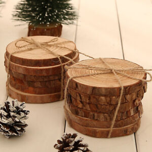 Details About Diy Round Natural Rustic Wooden Chip Centerpiece Crafts Wedding Party Decoration
