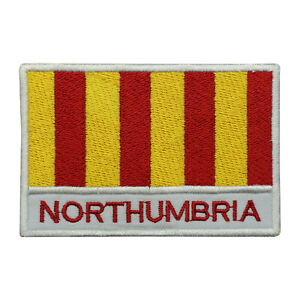 Northumbria-County-Flag-Patch-Iron-On-Patch-Sew-On-Embroidered-Patch