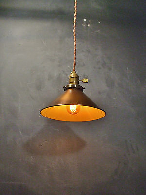 Collectibles Vintage Industrial Hanging Light With Steel Cone Shade Machine Age Minimalist Shrink-Proof