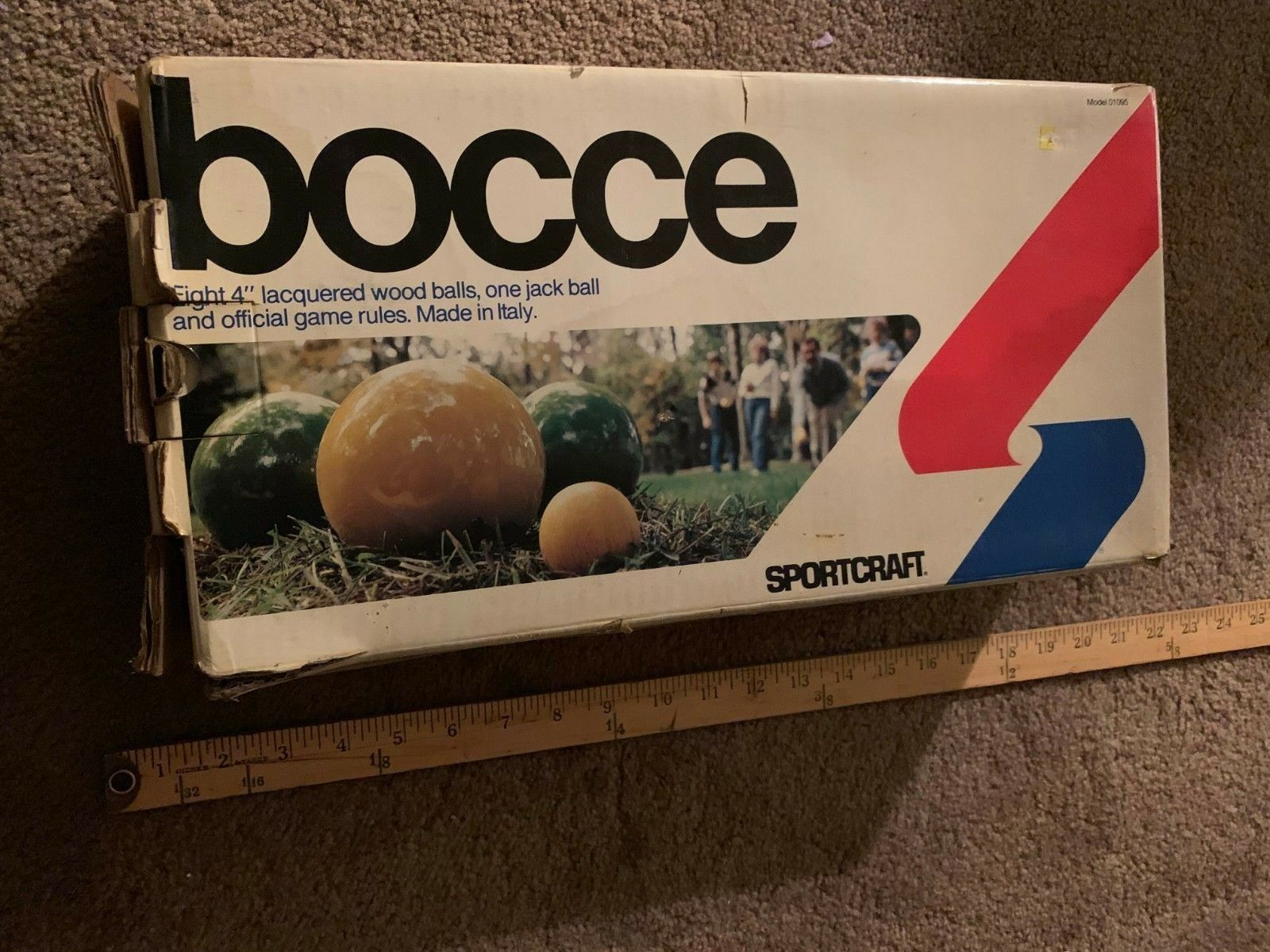 BOCCE BALL GAME SET MADE IN ITALY WITH BOX