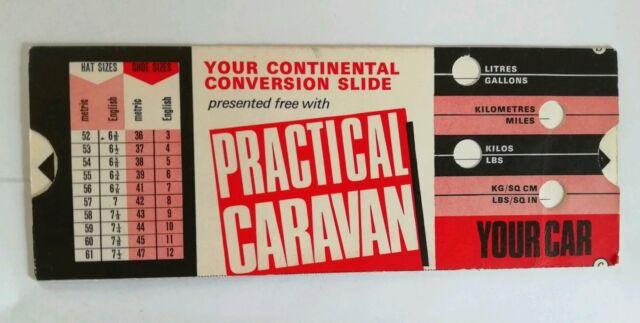 Rare vintage PRACTICAL CARAVAN - Continental Conversion Slide