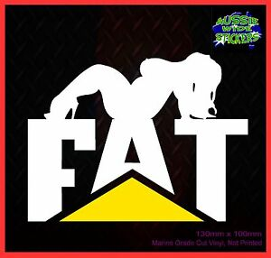 Sexy-FAT-CHICK-Caterpillar-CAT-JDM-Car-Ute-Truck-Stickers-Decal-130mm