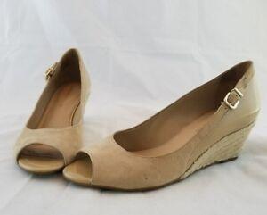 a1c5b896d7bb2 Women s Antonio Melani Tan Suede Wedge Open Toe Heels -Size 7.5M ...