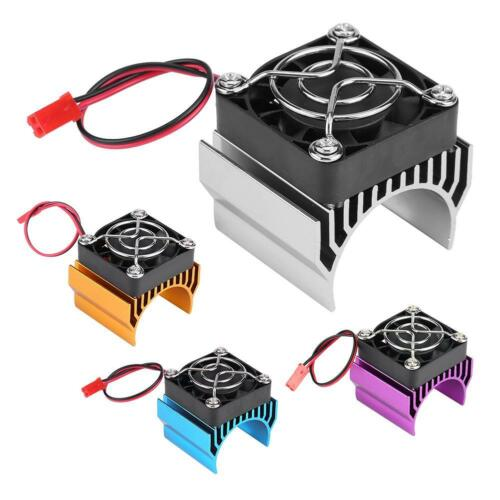 Heat Sink With Cooling Fan for 1//10 Scale Electric RC Car 540//550 //3650 Motor❤lo