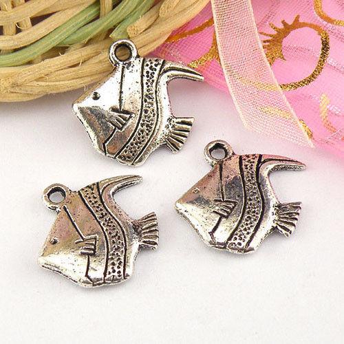 4Pcs Tibetan Silver Fish Charms Pendants A4992