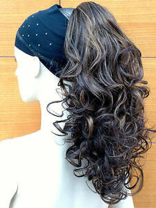 Clip in ponytail hair piece curly hair extension brown with blonde image is loading clip in ponytail hair piece curly hair extension pmusecretfo Image collections