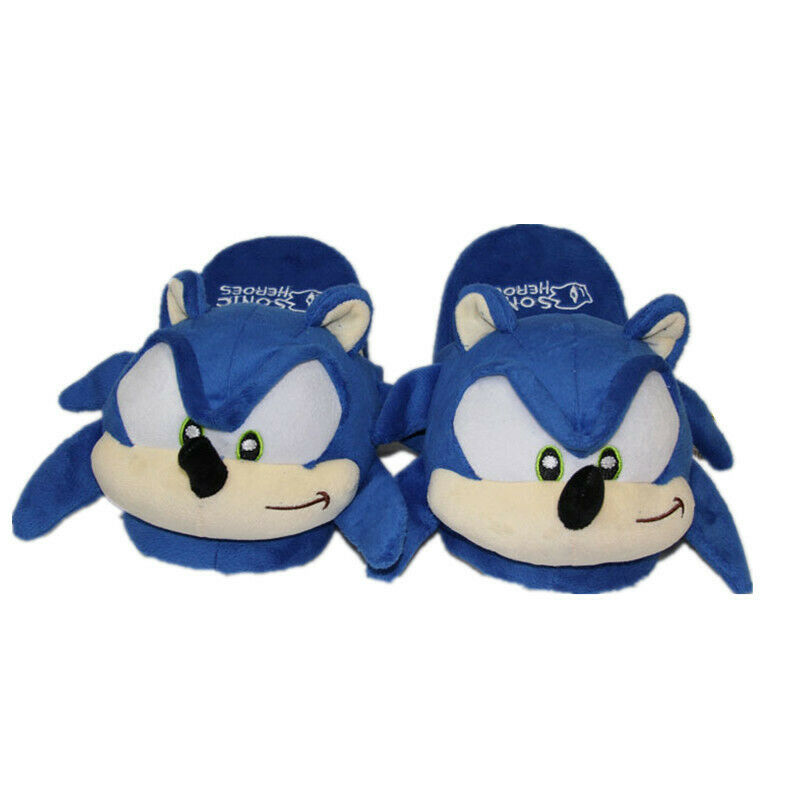 Sonic The Hedgehog Classic Indoor Slippers Kids Adults Winter Plush Shoes Xmas For Sale Online Ebay
