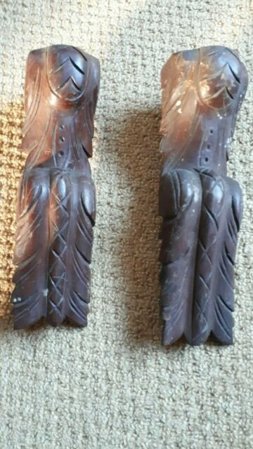 Original Vintage collectable wooden Furniture Mouldings 1930's? Mahogony? Carved