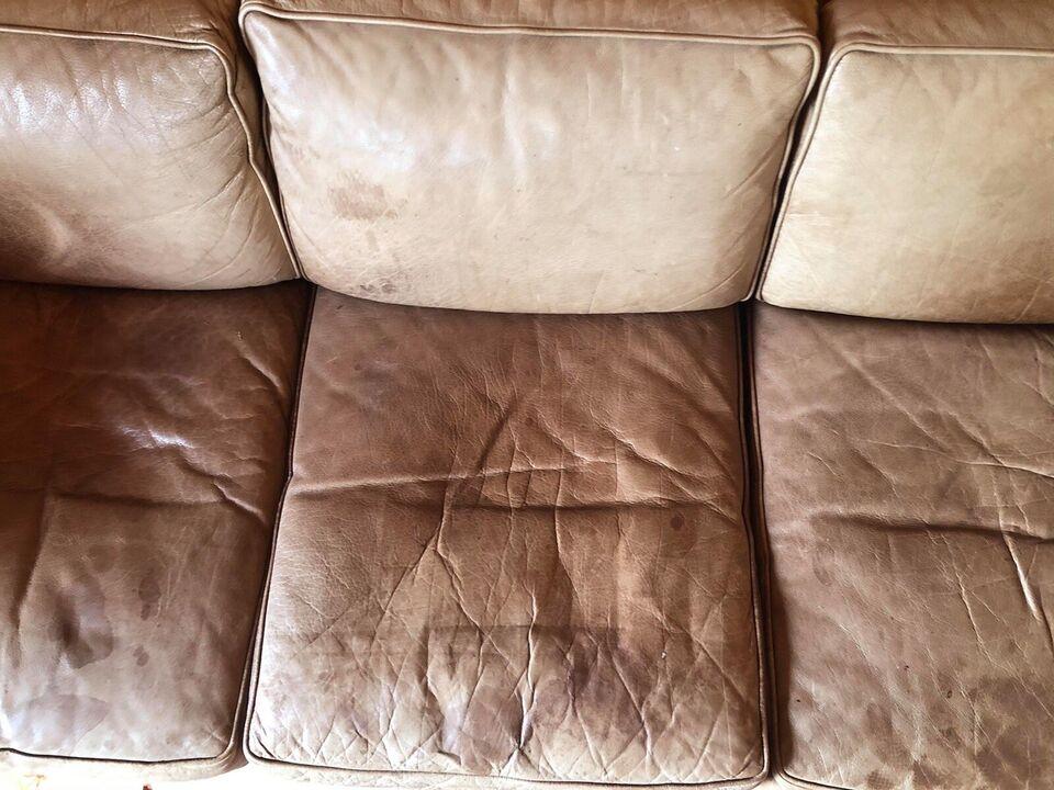 Sofa, læder, 3 pers.