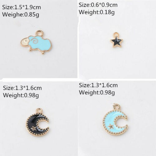 20pcs animal moon star drip oil Pendant  necklace bracelet jewelry accessories