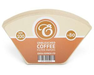 Size 100 Unbleached Coffee Filter Paper Cones for Melitta Aromaboy