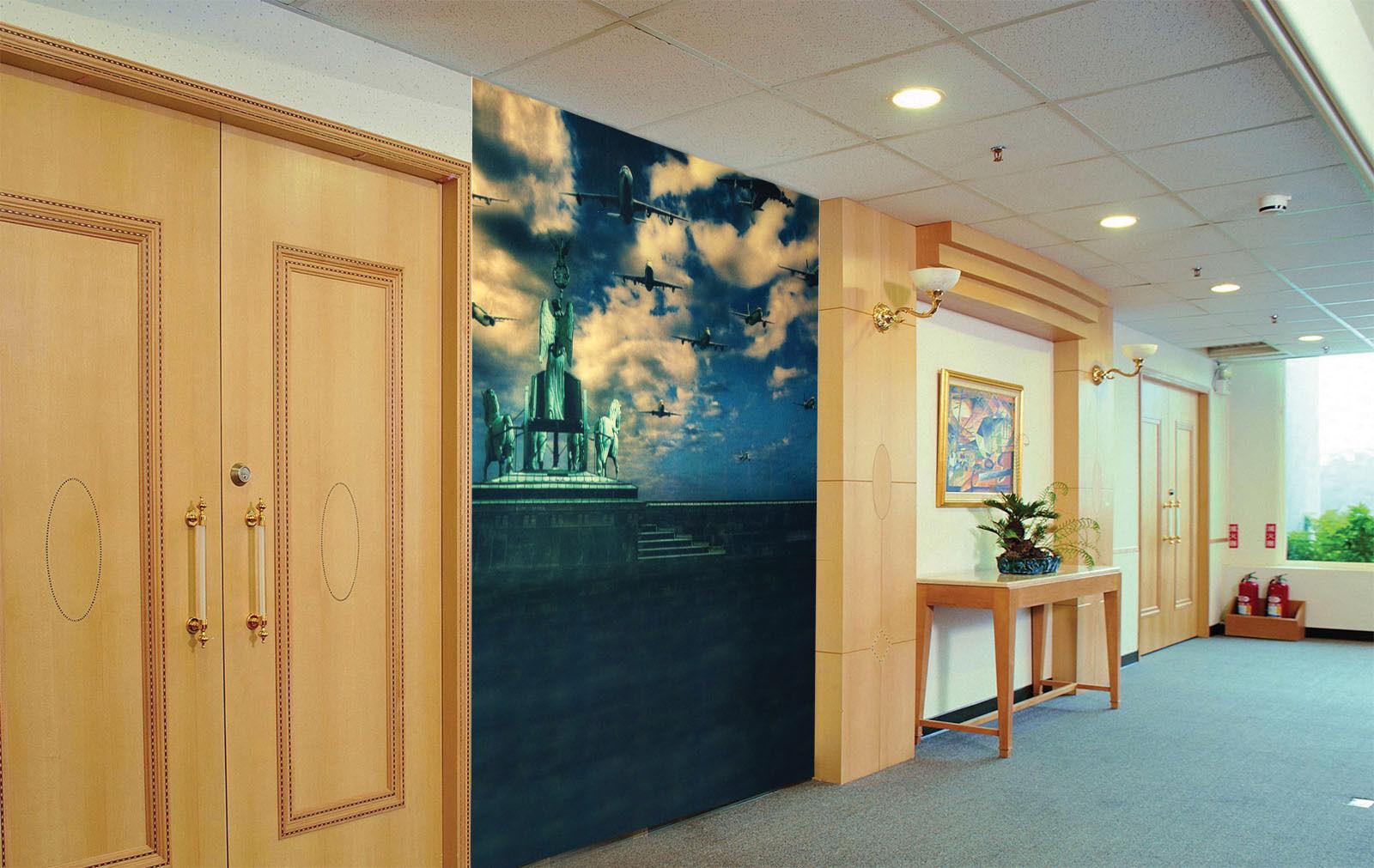 3D Aircraft Horses Paper Wall Print Wall Decal Wall Deco Indoor Murals