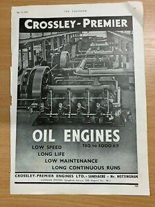 1954-Crossley-Premier-Sandiacre-Huile-Moteurs-Enorme-Vintage-Annonce
