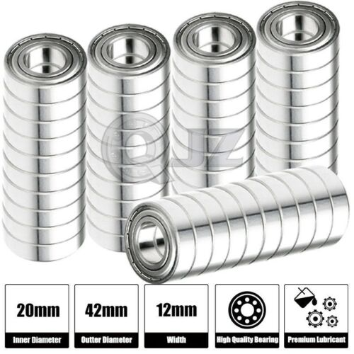 50x 6005-ZZ Ball Bearing 25mm x 47mm x 12mm Double Shielded Metal Seal NEW