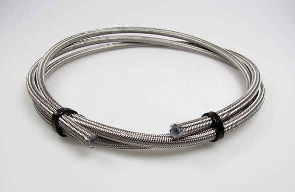 Brake Hose -3 Stainless Steel Braided PTFE Pipe Aeroquip Goodridge Compatable 1m