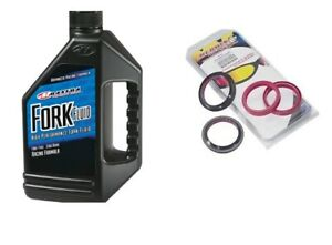 All Balls Fork & Dust Seal Kit With Maxima 7W fork Fluid 1 Liter 56-104