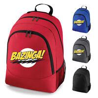 Bazinga Big Bang Theory Slogan School Work Backpack Rucksack Bag NEW
