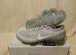 dbe57ae4f7 Nike Women's Air VaporMax Flyknit Pure Platinum Grey 849557 004 Sz ...