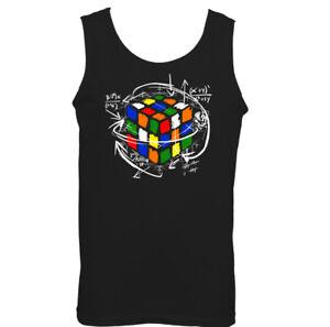Rubik-039-s-Cube-Equations-Mens-Funny-Retro-Vest-Rubix-80-039-s-Sheldon-Puzzle-Cooper