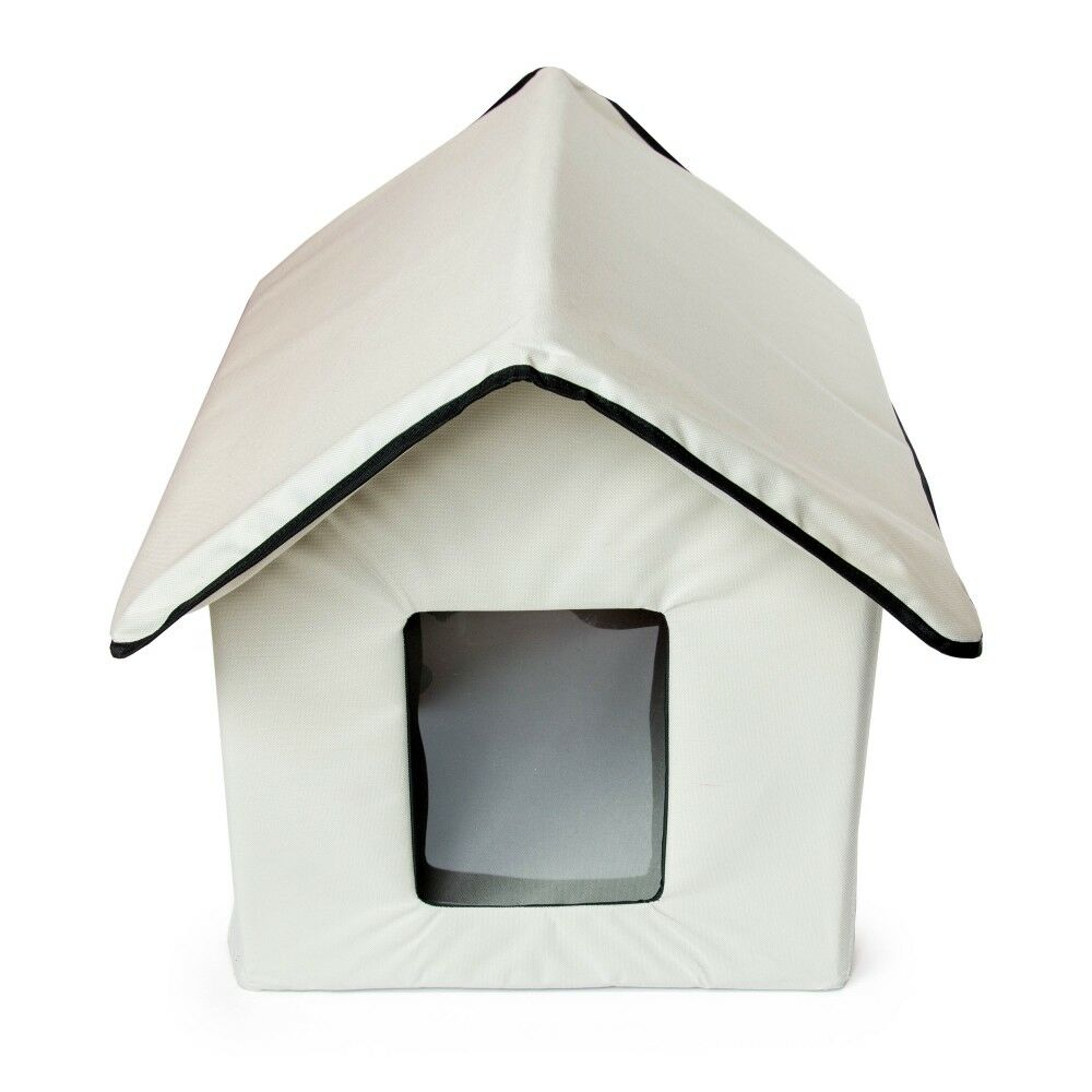 ALEKO Portable Heated Outdoor Indoor Pet House Collapsible Dog Cat Shelter