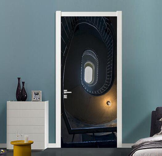 3D Spirale Treppen 503 Tür Mauer Wandgemälde Foto Wandaufkleber AJ WALL DE Lemon