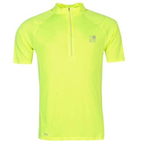 Karrimor Mens X Running Zip T Shirt Tee Top Breathable Lightweight Chin Guard