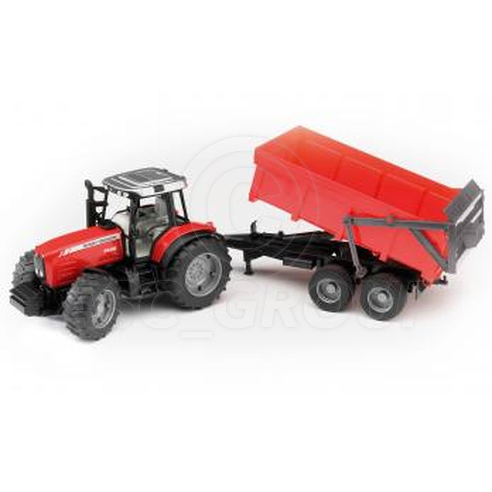 Bruder Toys 02045 Pro Series MASSEY FERGUSON 7480 Tractor & Tipping Trailer 1 16