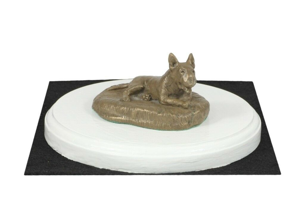 punto vendita Bull Terrier - - - figurine made of Bronze on the bianca wooden base, Art Dog  la migliore moda