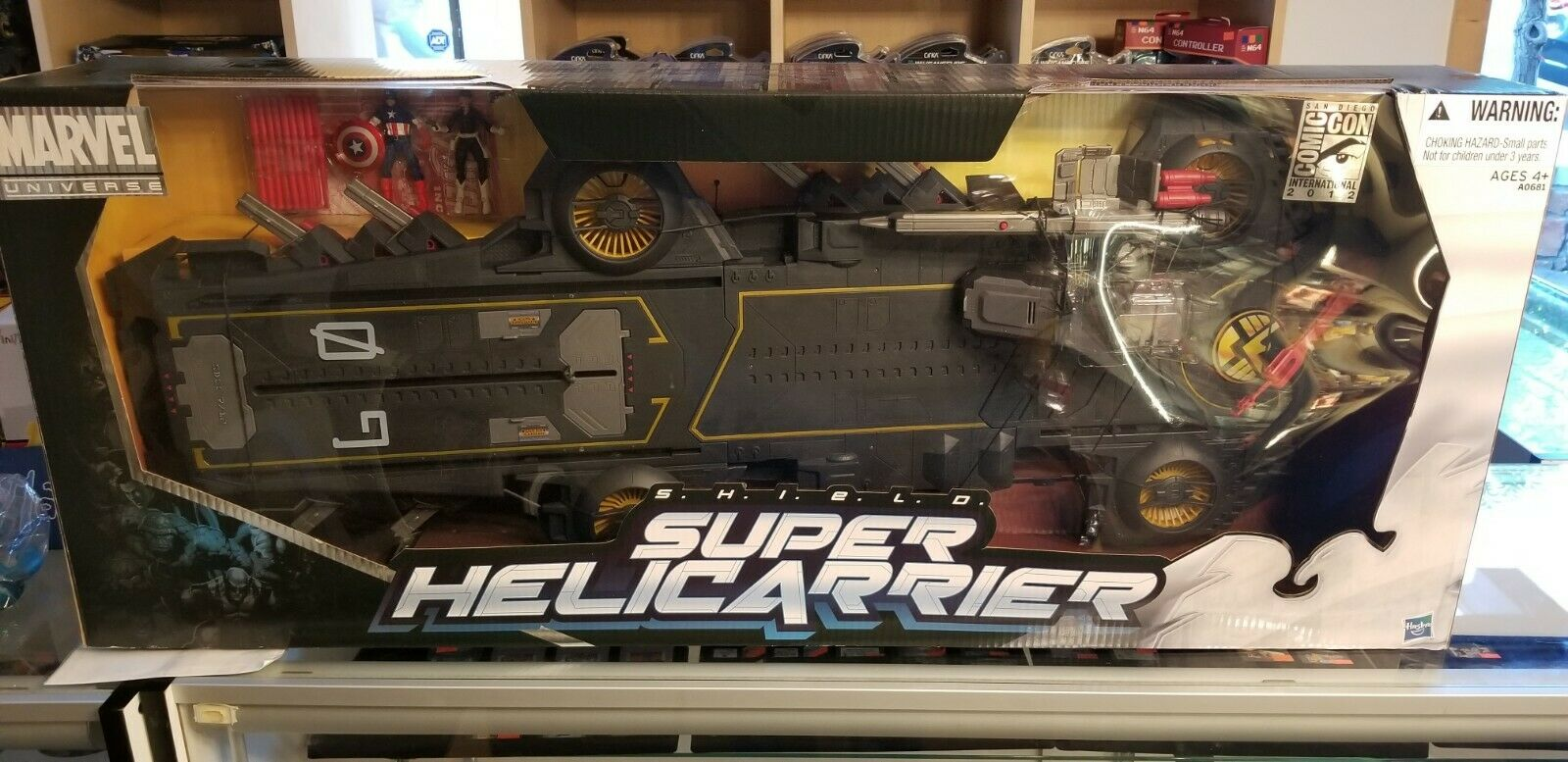 MARVEL UNIVERSE SHIELD SUPER HELICARRIER 2012 SDCC EXCLUSIVE UNOPENED