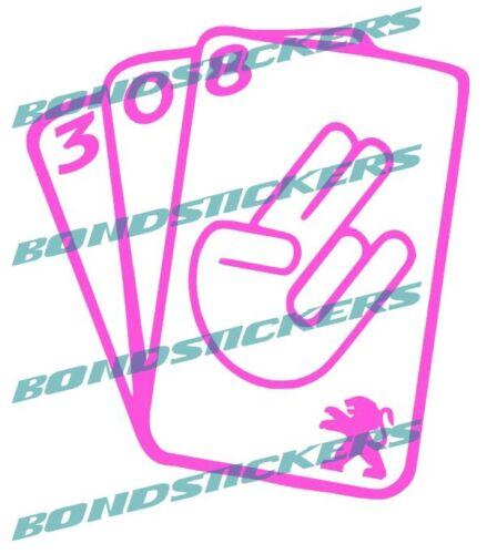 Vinilo de corte Pegatina PSA Peugeot CARTAS sticker decal GRUPO PSA 308