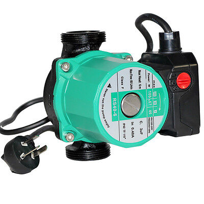 """3 Speed Solar Hot Water Heating System Circulation Booster Pump 60L/M 1.5"""" BSP"""