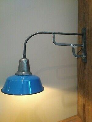 Klug 1/3 Alte Große Industrie Emaille Wandlampe, Fabrikampe,emaillampe Hoflampe Die Nieren NäHren Und Rheuma Lindern