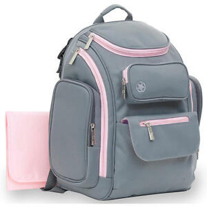 jeep places and spaces backpack diaper bag grey pink. Black Bedroom Furniture Sets. Home Design Ideas